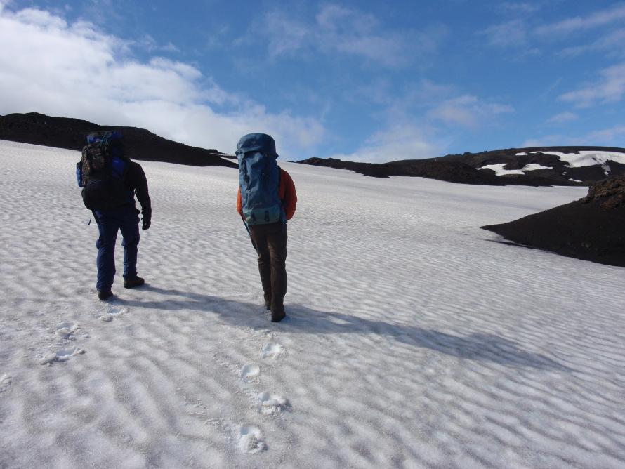 «Ανεβαίνοντας προς την καλντέρα της Askja, στην Ισλανδία. Λόγω των πολύ κακών καιρικών συνθηκών, εγκλωβιστήκαμε για τέσσερις μέρες σε μια αρκτική θύελλα και χρειάστηκε να καλέσουμε τη διάσωση για να γλιτώσουμε από το πολικό ψύχος».