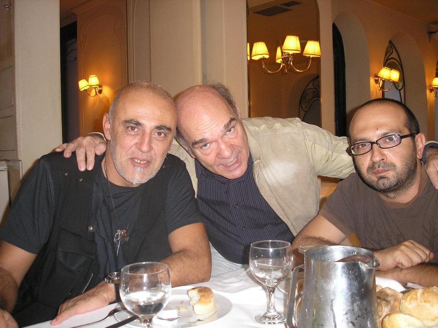 Δημήτρης Χαλαζωνίτης, Σπύρος Βλασσόπουλος, Μάνος Βουλαρίνος. (Φωτογραφία: Σωτήρης Κακίσης)