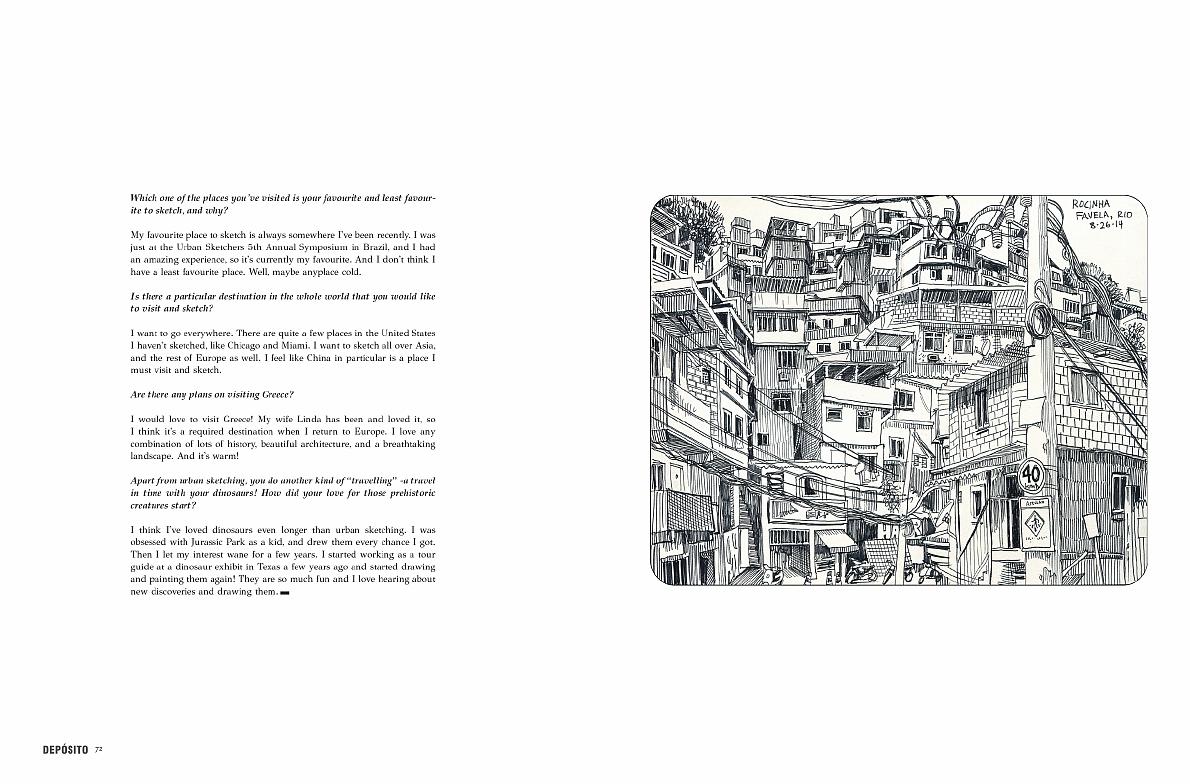 Η τέχνη του urban sketcher Paul Heaston