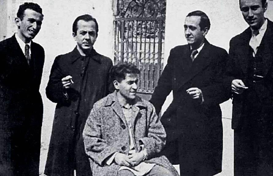 Από αριστερά: Λάμερας, Νικολάου, Απάρτης, Φραντζισκάκης και Μόραλης το 1935.