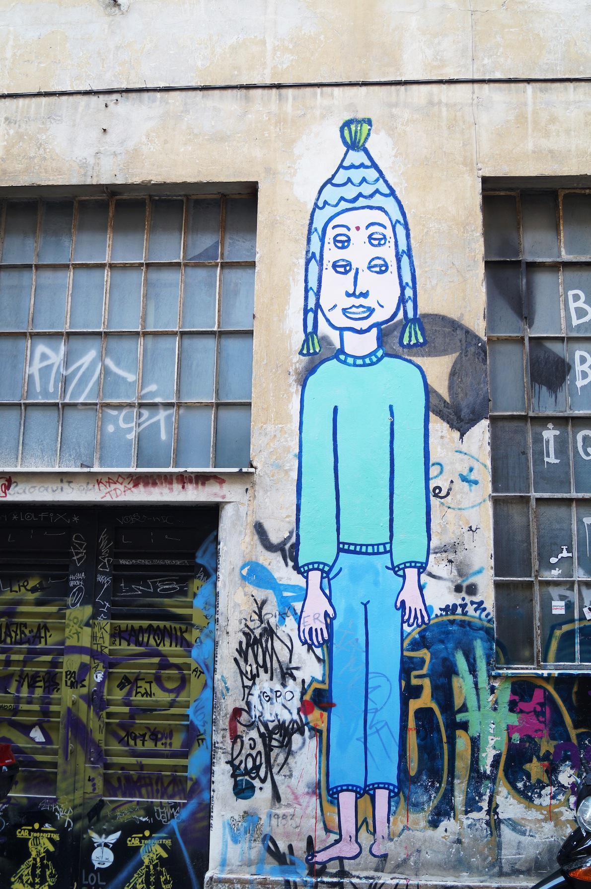 Ψυρρή Writer: Cacao Rocks O γνωστός καλλιτέχνης μισός  Έλληνας μισός Γάλλος χρησιμοποιεί κυρίως πλαστικό χρώμα και pastel αποχρώσεις
