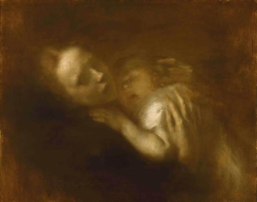 «Κι έφευγαν απ' τα μάτια σου / σκιαγμένα τα τρυγόνια / και μ' έφερναν σ' άλλους καιρούς / και στα μικρά μου χρόνια.» (Eugene Carriere, «Mother And Child Sleeping»)