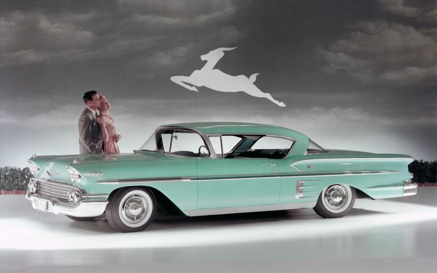 Η Chevrolet BellAir Impala, 1958. Μια νοσταλγία «της εποχής που ήμουν παιδί, περπατούσαμε ανάμεσα σε ψηλά στάχυα και είχαμε στο στόμα ένα κομμάτι χορτάρι» (Dewey Bunnell, «America»)