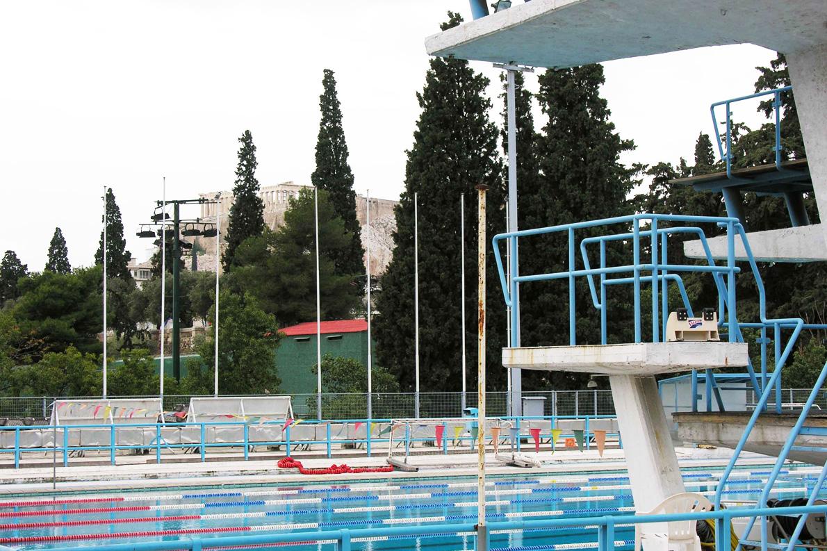 Η πισίνα του Ζαππείου στη σύγχρονη εποχή. Μια πισίνα που δεν θα 'πρεπε να αδειάζει και να κλείνει ποτέ.