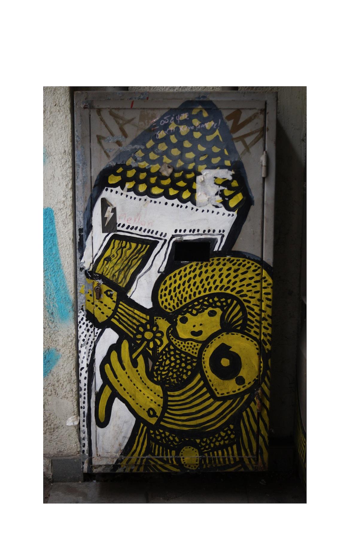 Ψυρρή Writer: b. Ένα από τα κλασικά έργα του αρχιτέκτονα και  street artist b. Spraypaint