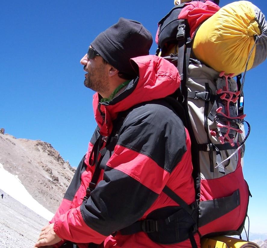 Στην ανάβαση του Ακονκάγκουα, στα 5.300 μ.