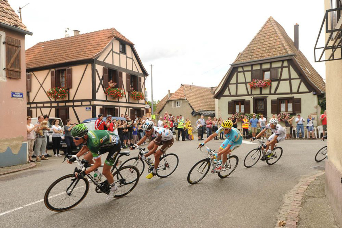 14/07/2014 - Thomas VOECKLER, Christophe RIBLON, Lieuwe WESTRA et Arnaud GERARD  Photo Credit: letour.fr