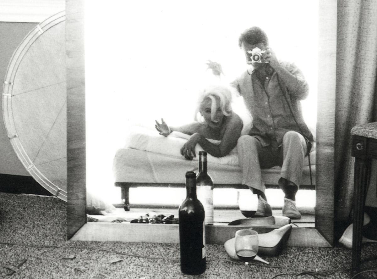 Bert Stern /self portrait w/marilyn