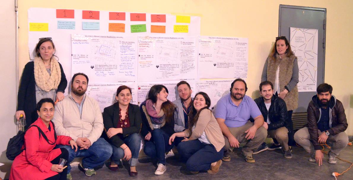 H ομάδα συντονισμού του εγχειρήματος Πεδίο Αγορά.