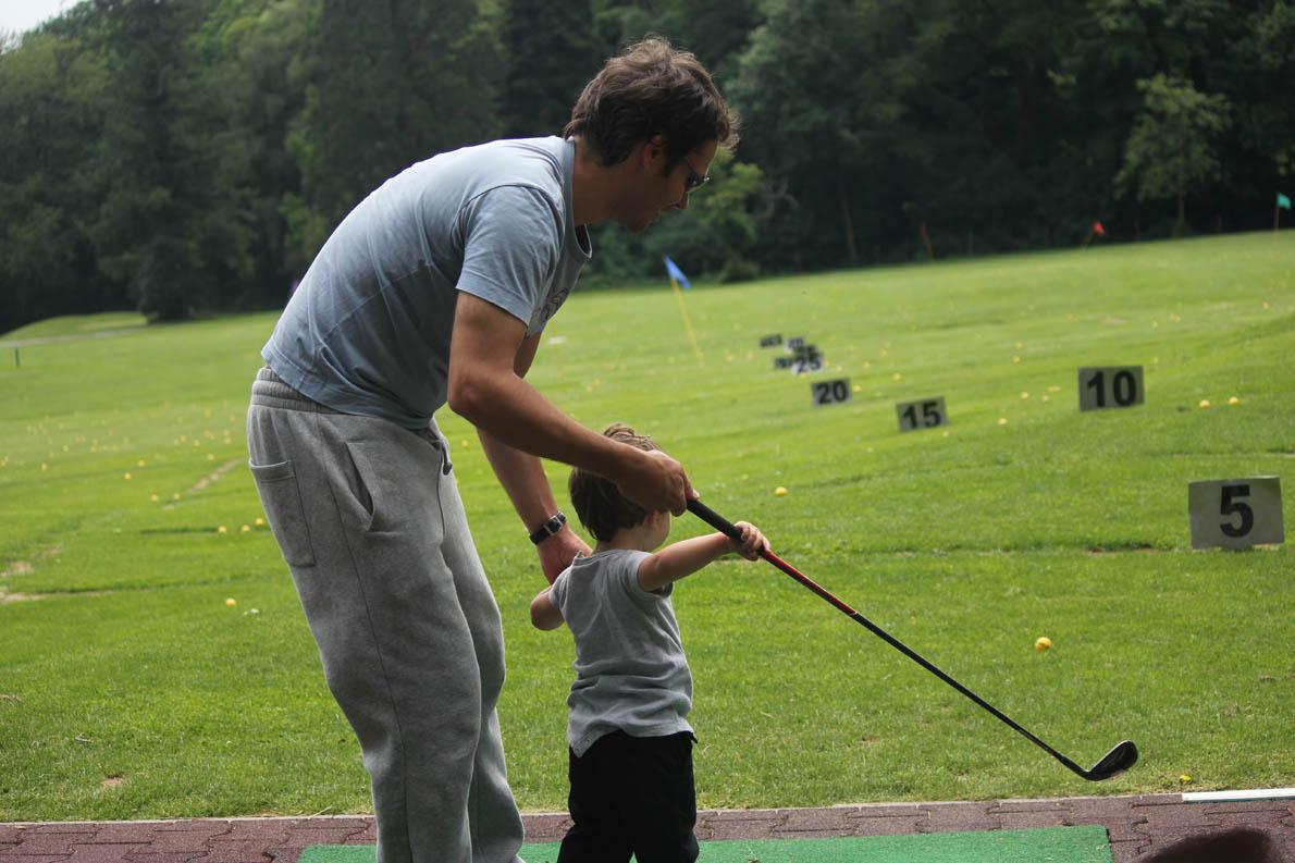 «Ο δεσμός είναι κάτι που το χτίζουν και οι δυο: πατέρας και γιος». (Στην φωτογραφία: Frankfurt April 2012 1,5 years old)