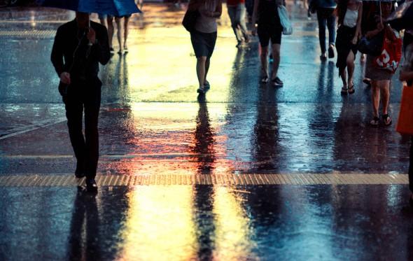 Βόλτα με βροχή, έτσι, χωρίς λόγο!