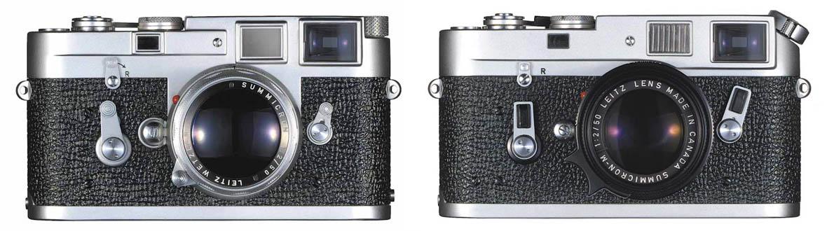 Leica M3, 1954. Leica M4, 1967.