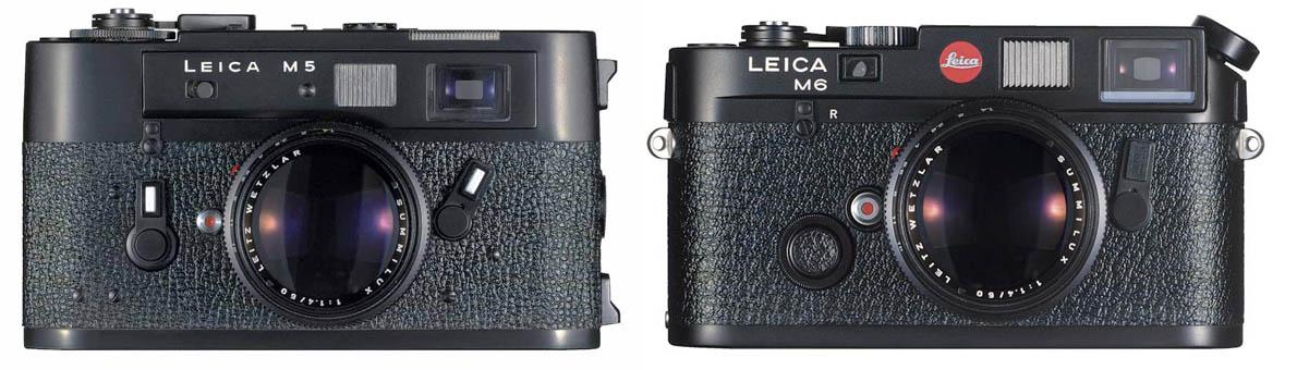 Leica M5, 1971. Leica Μ6, 1984.