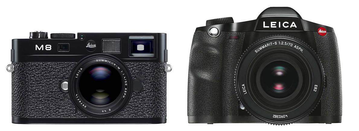 Leica M8.2, 2006. Leica S2, 2008.