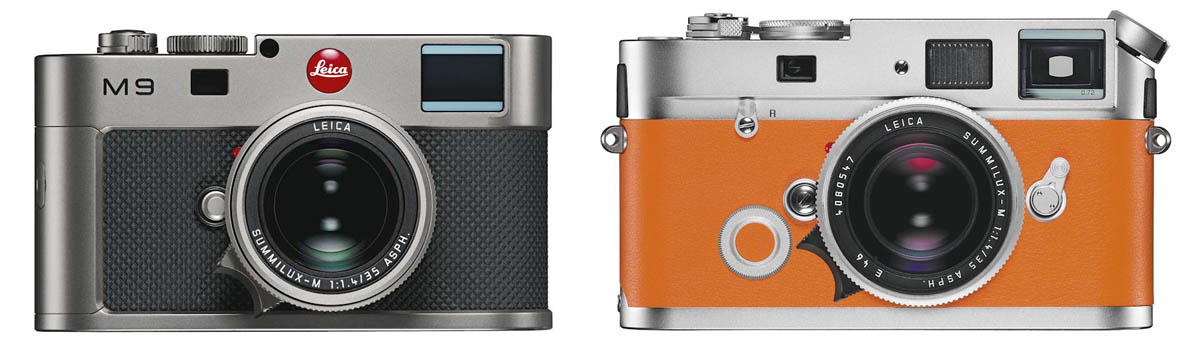 Leica M9-Titanium, 2011. Leica M7 Hermès, 2011.