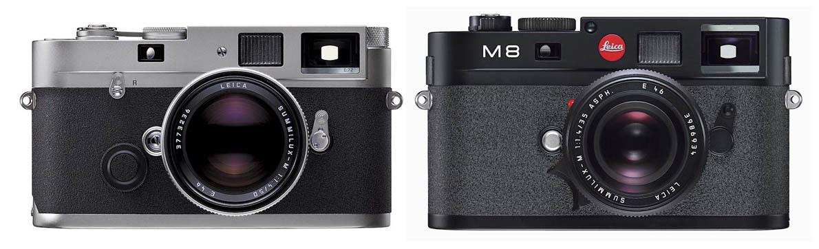 Leica MP, 2003. Leica M8, 2006.
