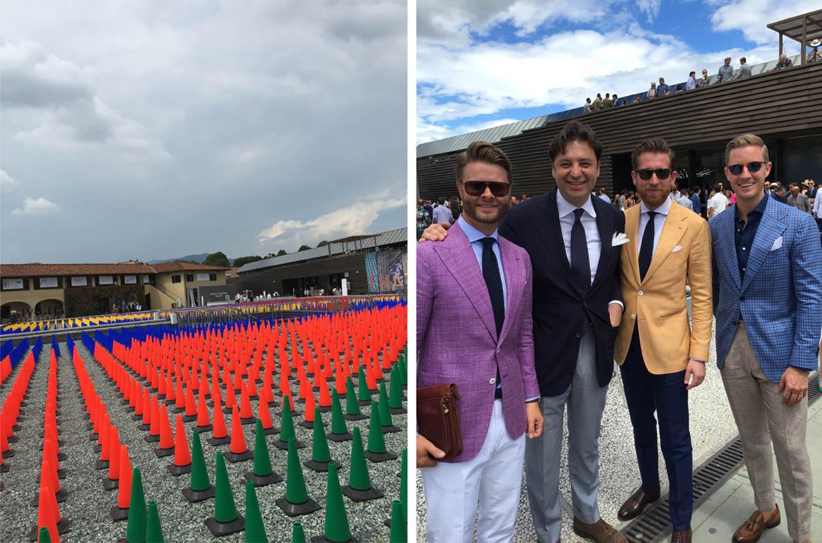 Το θέμα της φετινής Pitti ήταν το χρώμα ... Με τους απίθανους συνιδρυτές της Beckettrobb, νέας Αμερικάνικης αλυσίδας με sartorial Pret-a-Porte και Made Measure.