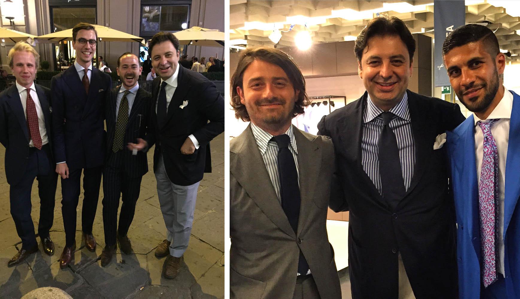 Η νέα γενιά Pitti  του Βορρά Robin Pettersson από Σουηδία και  Niels Holdorf  & Benedikt Fries από τη Γερμανία. Massimo Scapellato της Dolcepunta και  Khaled Nasr Instagram super star of style (30.000+ followers), from Los Angeles.