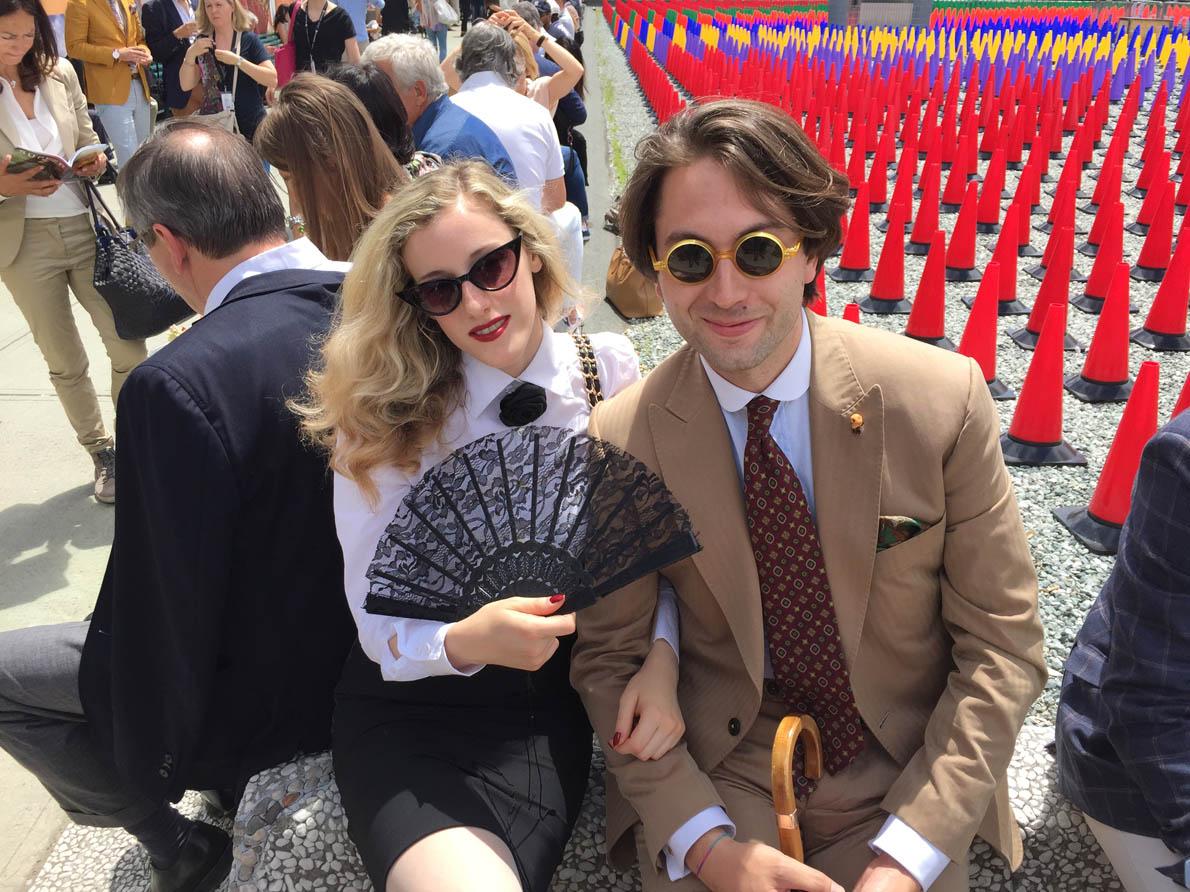 Με την αρθρογράφο Pia Antignani (L'Eleganza del Gusto) και τον Dandy Andrea Manfredini.