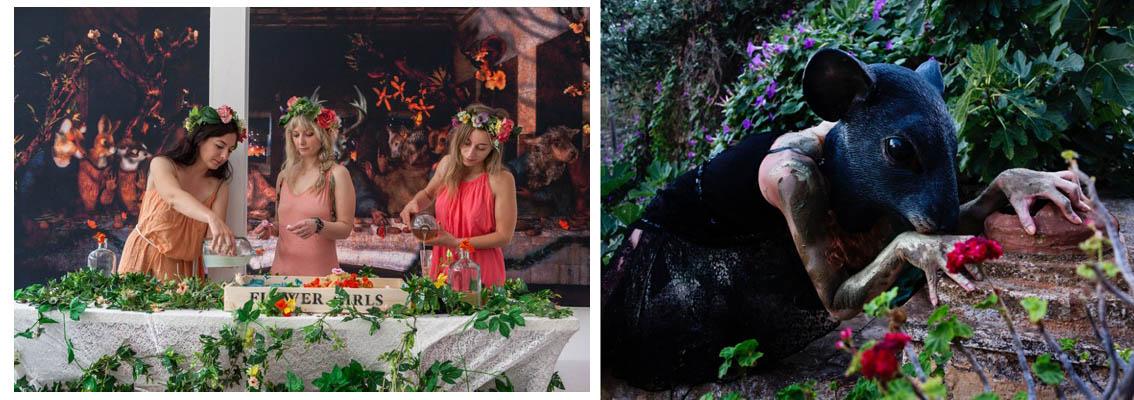 The Flower Girls, Mykonos Biennale in Paris 2014 Photo by Panos Kostouros The Mystic Party, Mykonos Biennale 2013 photo by Tassos Vrettos