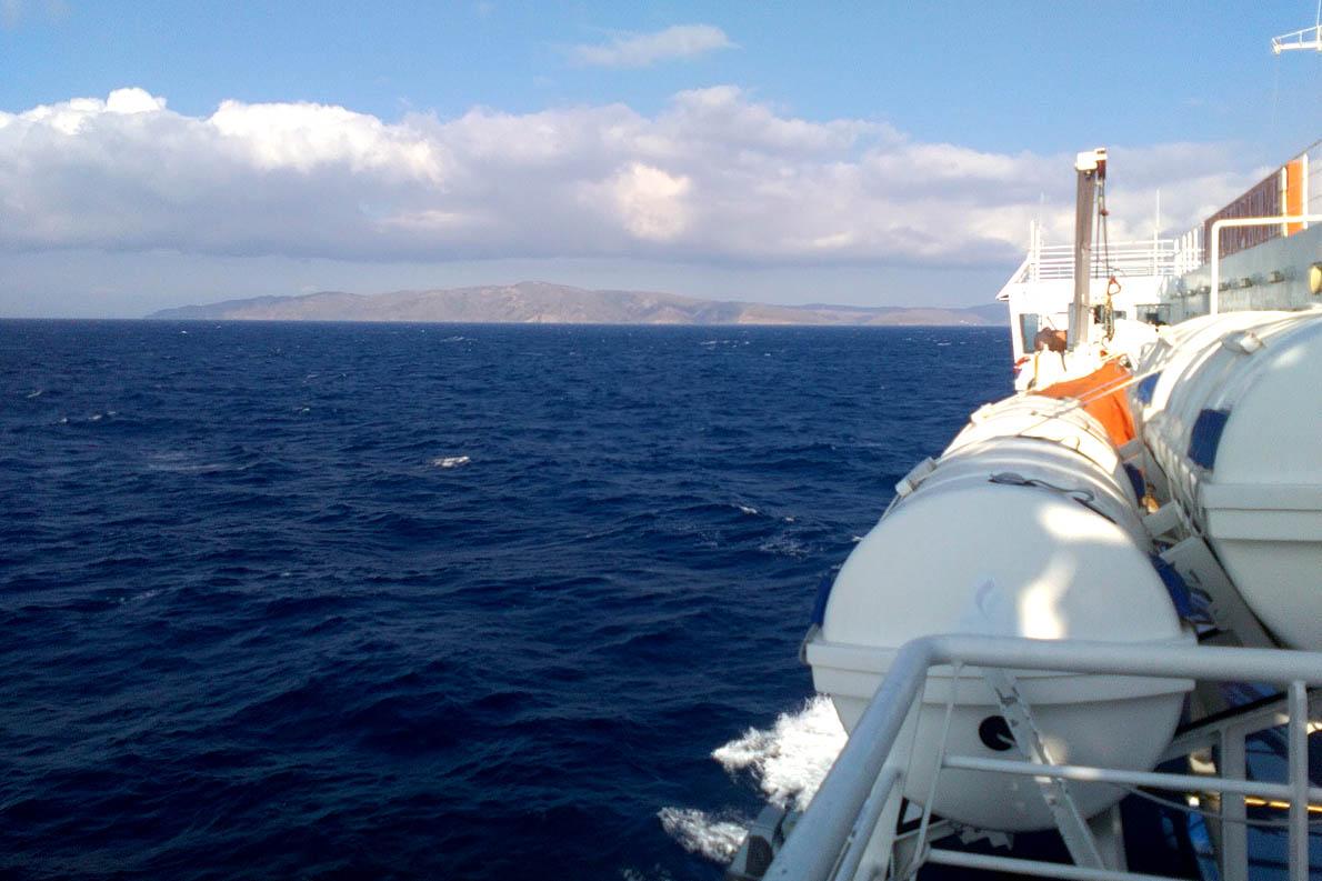 Aρμενίζοντας με το κρουαζερόπλοιο.