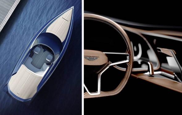 Μια Aston Martin στη θάλασσα