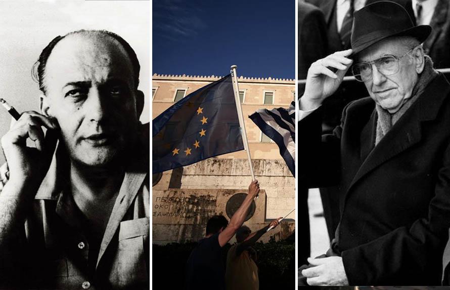 """Ο Χατζηδάκης θεωρούσε τον Γκάτσο """"βαθύτατα Έλληνα και Ευρωπαίο"""", ο Ανδρέας πάλι πέραν του """"επαναστατικού"""" ζιβάγκο ακροβατούσε μεταξύ Ευρώπης και ελληνισμού εσωτερικής κατανάλωσης."""