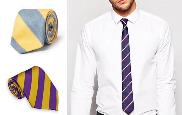 Περί της δίχρωμης ριγέ γραβάτας