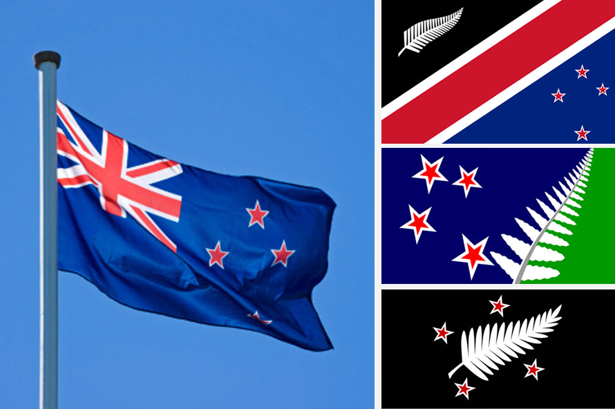 Flying New Zealand Flag