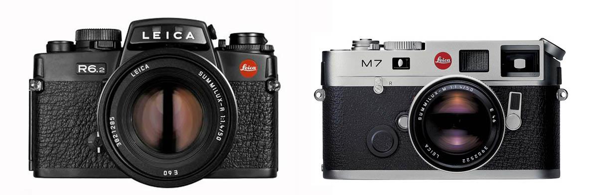Leica R6, 1988. Leica M7, 2002.