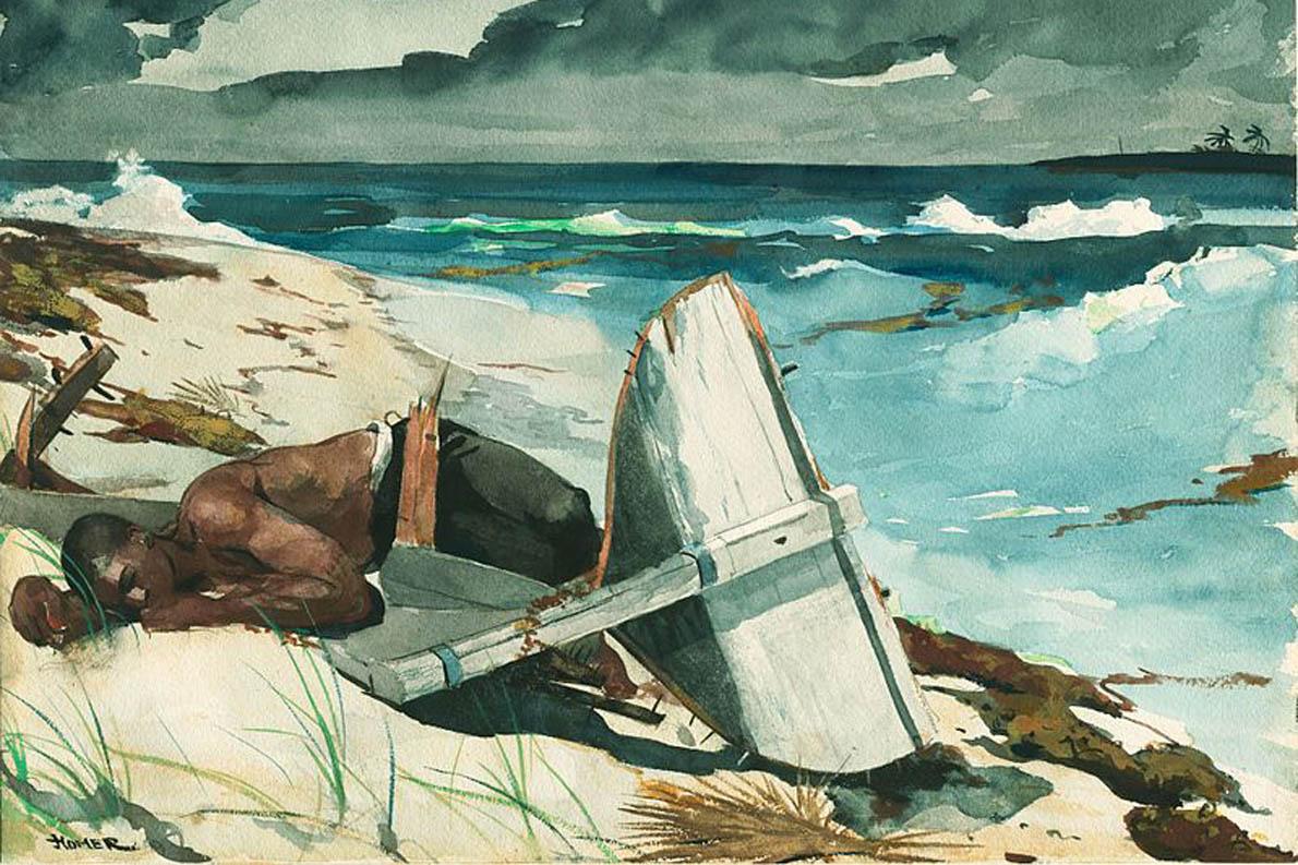 «Κι η αρμύρα στο κορμί του / Λες και ιδρώτας ήταν της θάλασσας / Καθώς μπήκε και βγήκε μέσα της / Με τη σφοδρότητα των εραστών / Που ξέρουν πως κάθε φορά / Μπορεί να 'ναι και η τελευταία.» (Winslow Homer, «After the Hurricane», 1899)