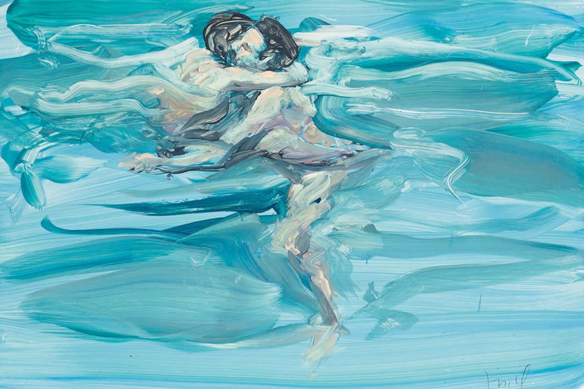 «Κοίταξε γλυκά, χαμογέλασε και ακούμπησε το κεφάλι στο δικό μου». (Eric Fischl, Swimming Lovers, 1984© Courtesy of the artist and Jablonka Gallery, Cologne)