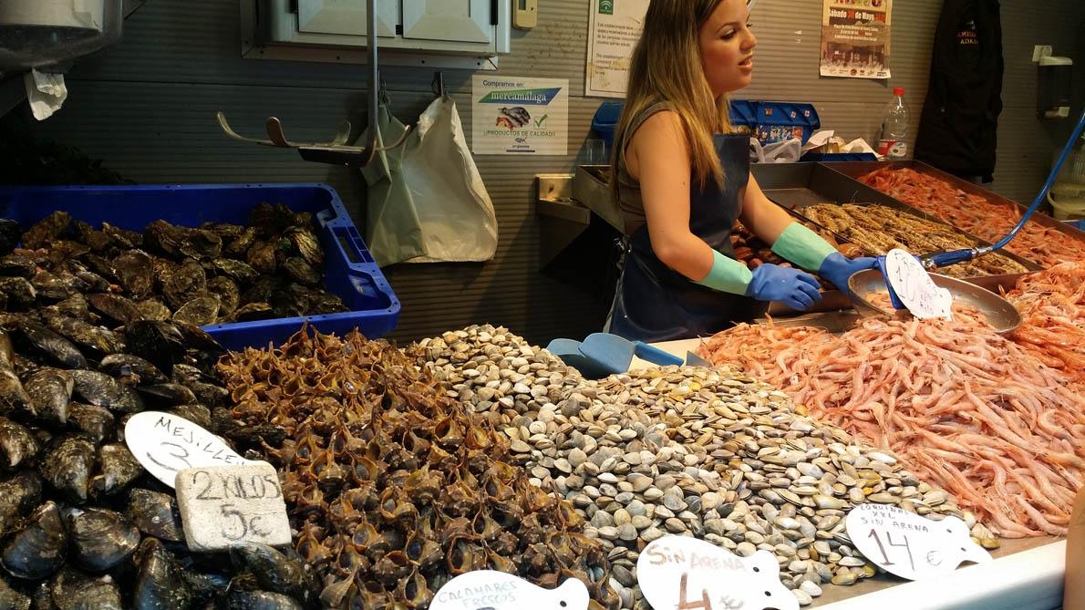 2636a3698a96 Διάφορα θαλασσινά στην κεντρική αγορά της Μάλαγα-1190