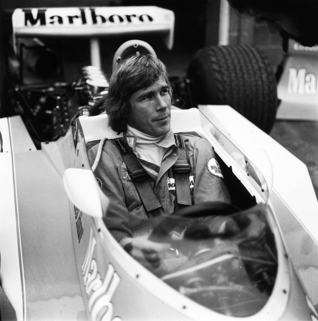 15th December 1975: British racing driver James Hunt (1947 - 1993), shortly after leaving the Hesketh team and joining the McLaren Formula One team. He is seated in a Formula One McLaren of the type in which he would win the 1976 season's F1 Drivers' World Championship title. (Photo by Evening Standard/Getty Images)