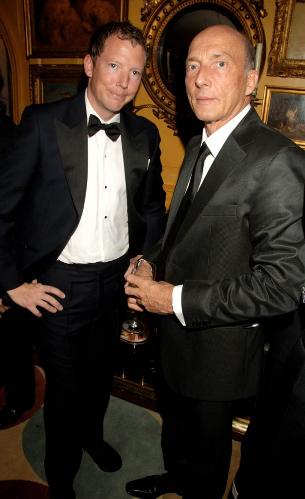 LONDON - APRIL 24: (EMBARGOED FOR PUBLICATION IN UK TABLOID NEWSPAPERS UNTIL 48 HOURS AFTER CREATE DATE AND TIME) (L-R) Nat Rothschild and Peter Simmons attend private dinner and party hosted by fashion chain Issa, at Annabel's on April 24, 2007 in London, England. (Photo by Dave M. Benett/Getty Images)