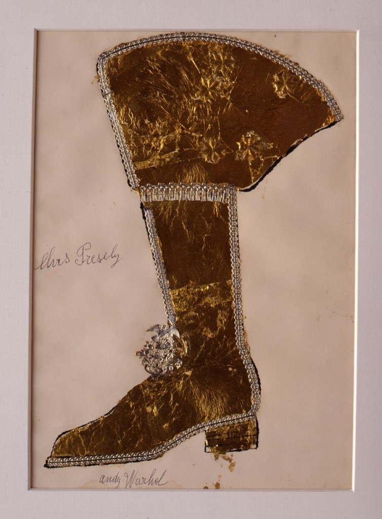 Andy-Warhol-Elvis-Presley-Gold-Boot-1956-Courtesy-The-Brant-Foundation