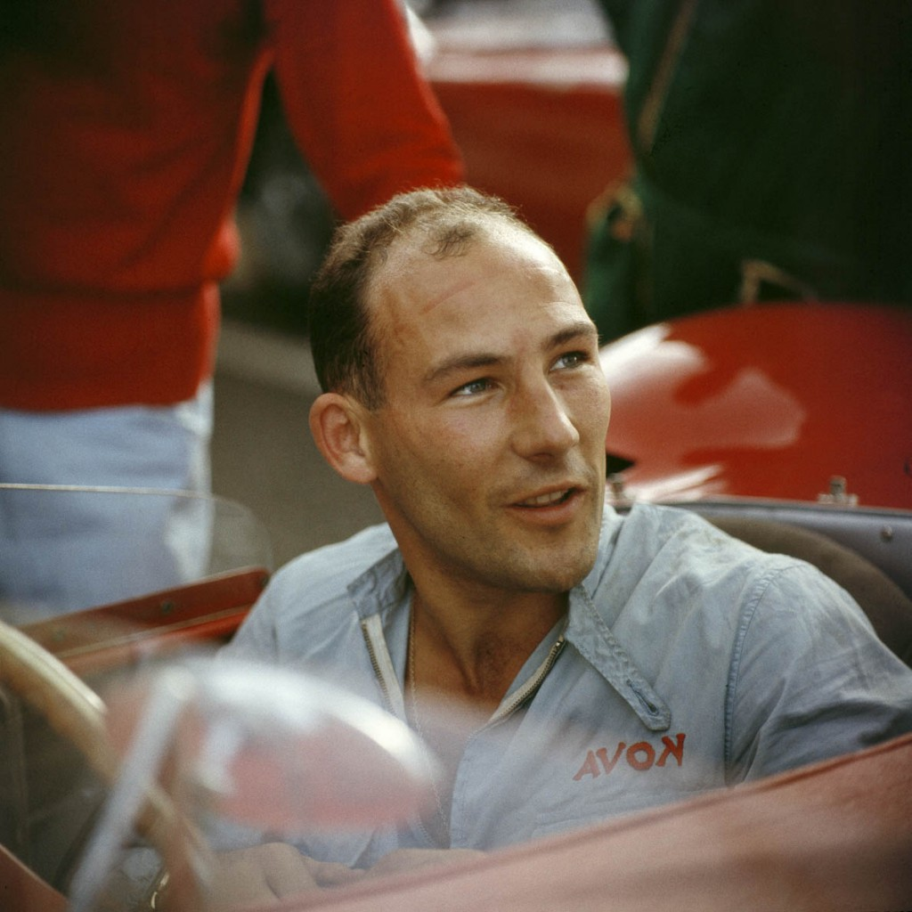 A portrait of Stirling Moss, sitting in his Maserati 300S, circa 1955. (Photo by Klemantaski Collection/Getty Images)