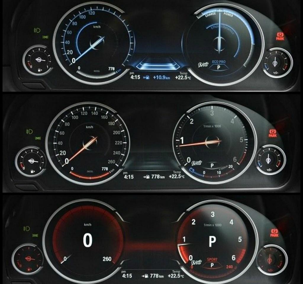 BMW 5 Instrument cluster