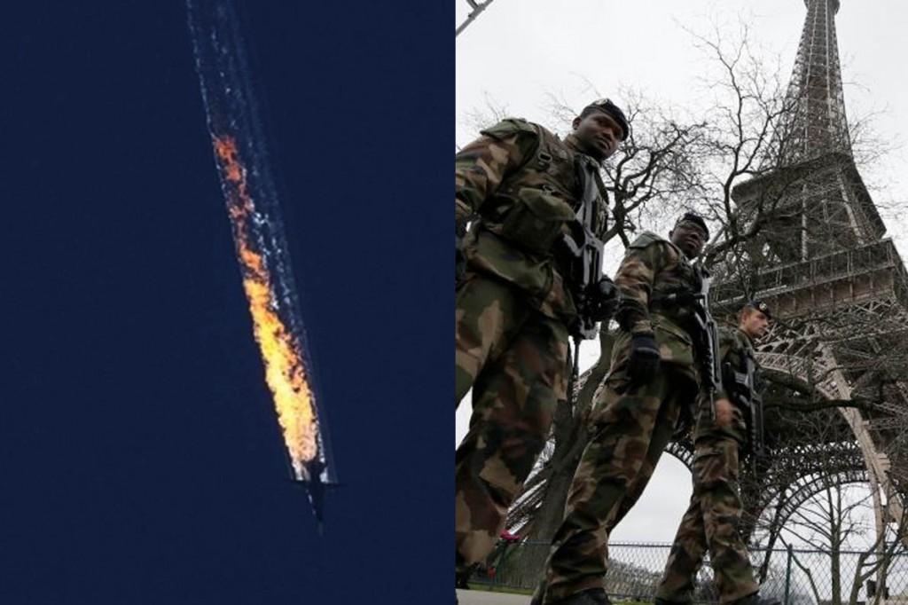 κατάρριψη ρωσικού - Παρίσι
