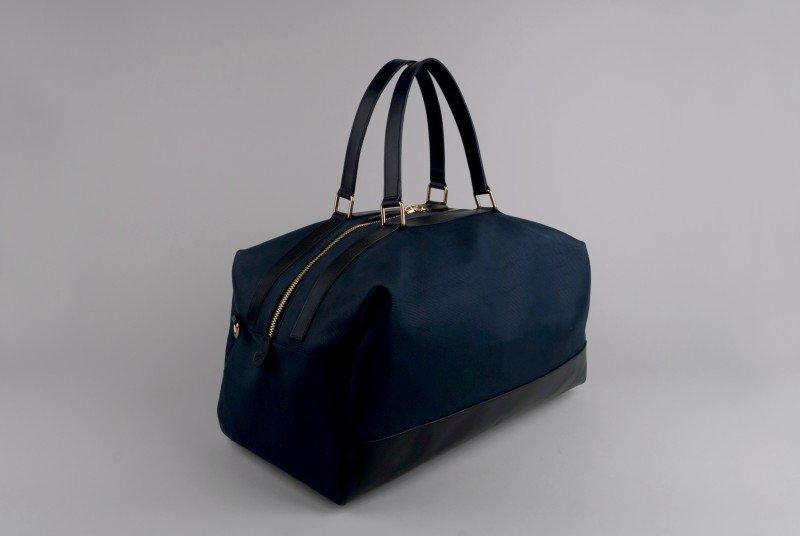 Globe-Trotter-Propellor-Navy-Overnight-Bag