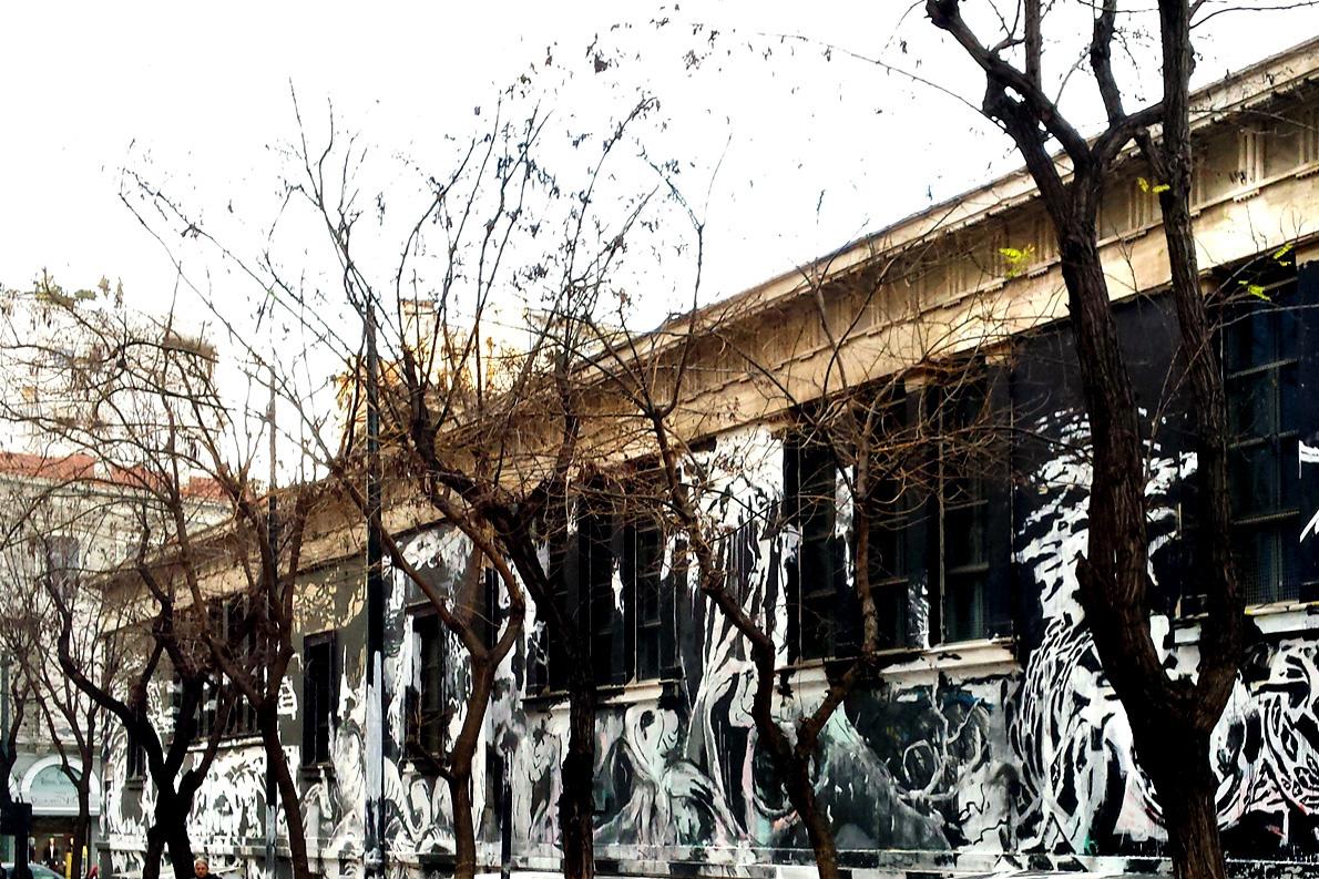 Το γκράφιτι του Πολυτεχνείου. Φωτογραφία: Γιούλη Τζερμπίνου