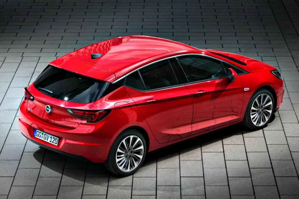 Opel astra rear 3 4