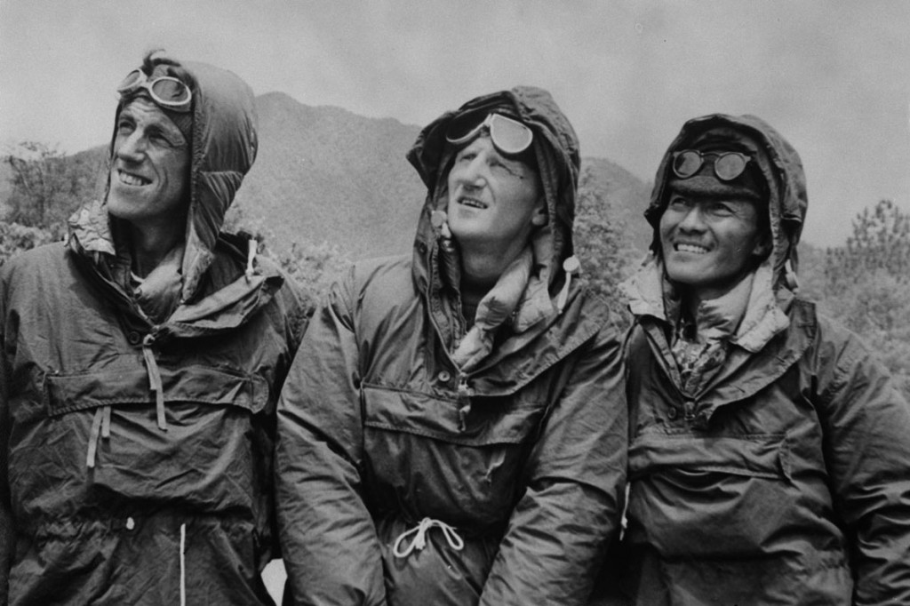 File photo dated 26/05/53 of the first conquerors of Everest, Edmund Hillary (left) and Sherpa Tenzing Norgay (right), with expedition leader Colonel John Hunt (centre) in Katmandu, Nepal, after descending from the peak.. Picture date: Monday May 20, 2013. It is the 60th anniversary since the highest mountain in the world was climbed, it was considered one of the greatest highlights of human endeavour. See PA story ADVENTURE Everest. Photo credit should read: PA Wire