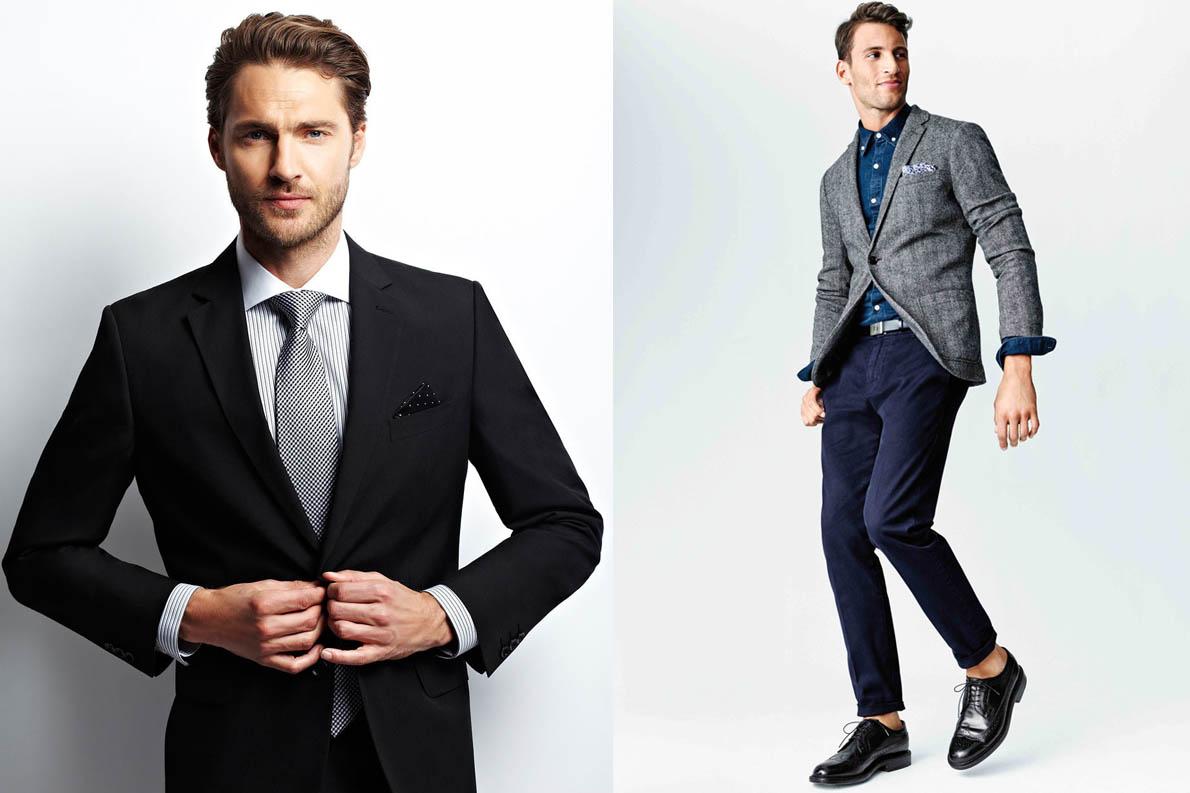 2130af60b995 Φοράτε σακάκια και παντελόνια ελαφρώς πιο κοντά και αποφύγετε να «σπάει»  κάτω το παντελόνι. Η ιδέα είναι να δημιουργηθεί μια λεπτή σιλουέτα