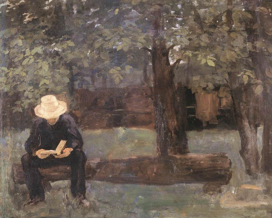 Ferenczy,_Károly_-_Man_Sittings_on_a_Log_(1895)