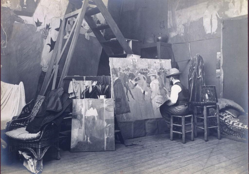 5-Maurice-Guilbert,-Toulouse-Lautrec-peignant