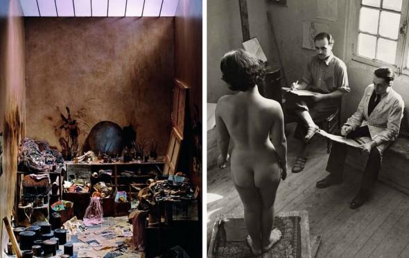 Eίσαστε περίεργοι να μάθετε τι συμβαίνει στα ατελιέ των ζωγράφων;