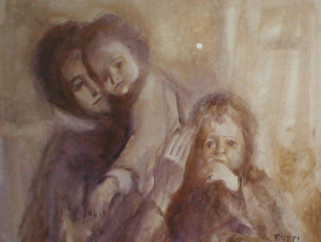 Italo_Botti_Mother_With_Two_Children_32x44
