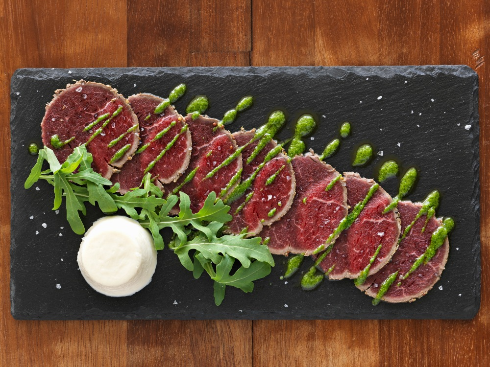 carpacio beef