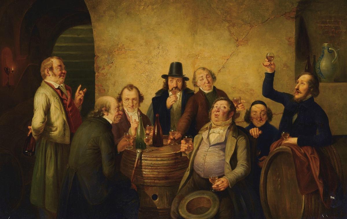 Johann_Peter_Hasenclever_-_Weinverkostung